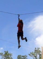 Julie on the zipline!