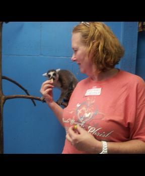 The lemur loves Mindi